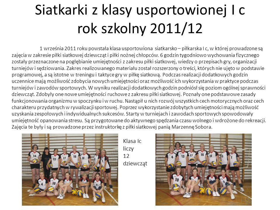 Siatkarki z klasy usportowionej I c rok szkolny 2011/12