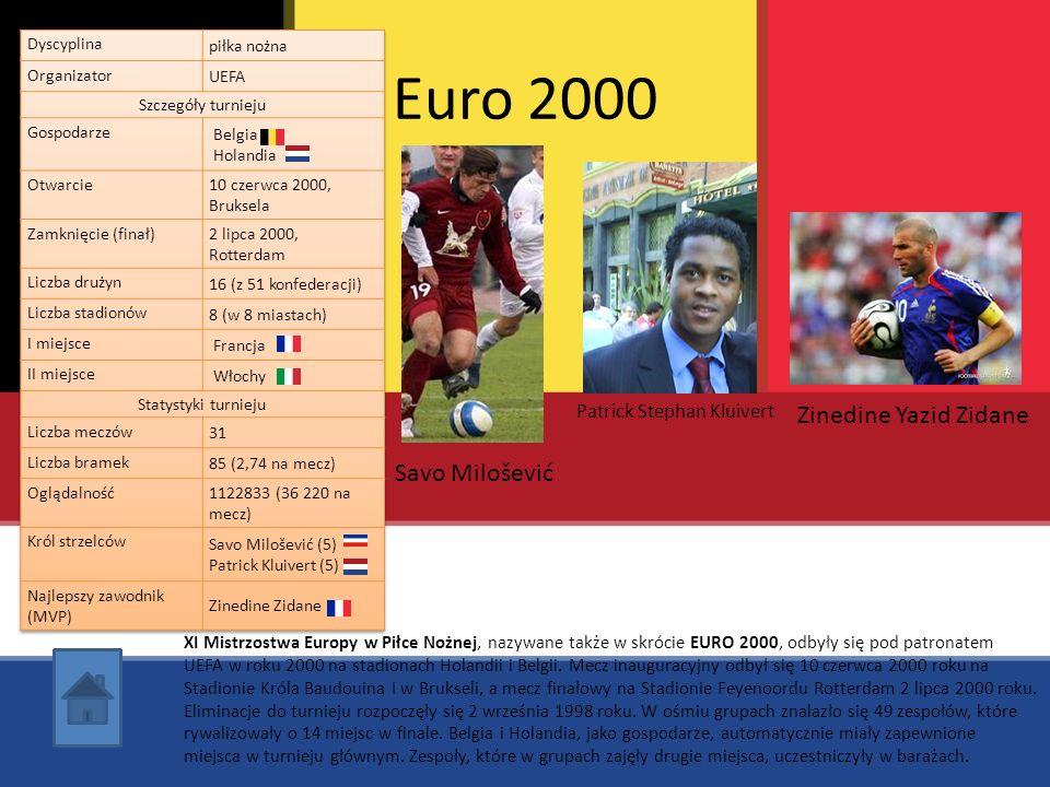 Euro 2000 Zinedine Yazid Zidane Savo Milošević