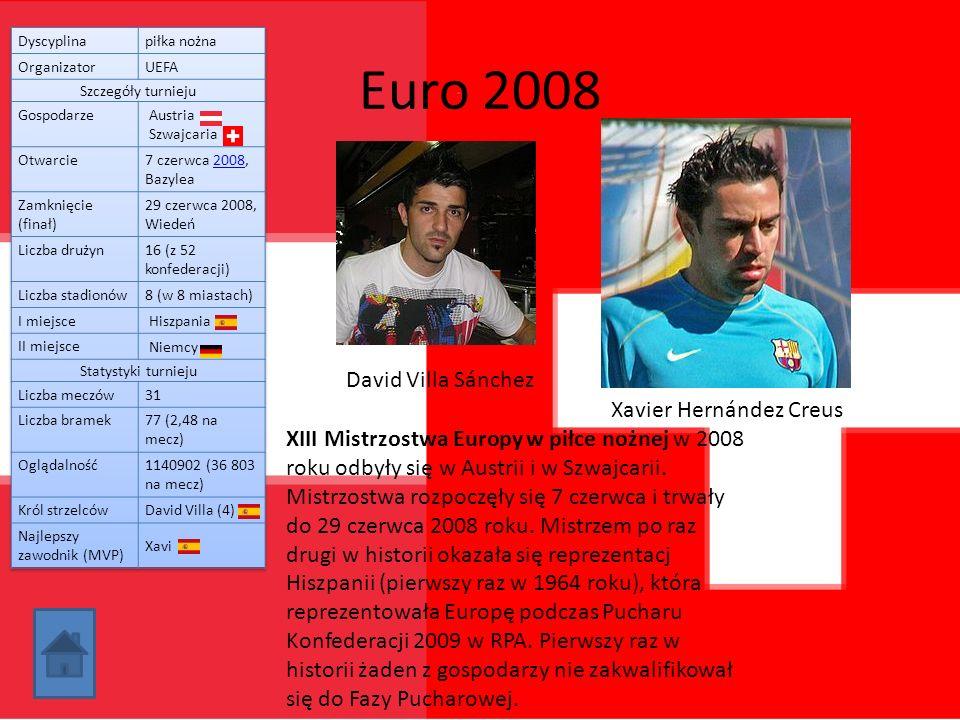 Euro 2008 David Villa Sánchez Xavier Hernández Creus