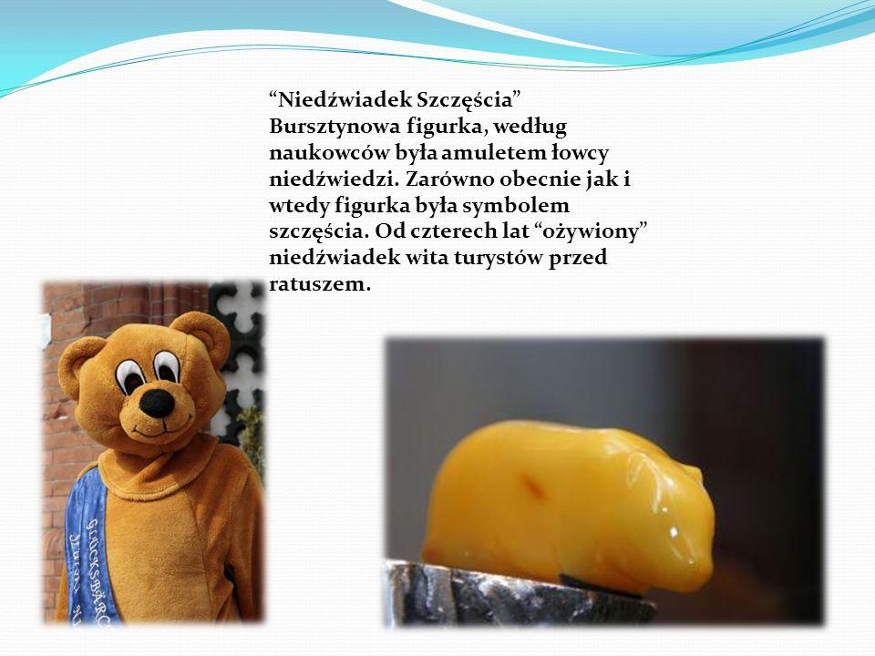 Niedźwiadek Szczęścia Bursztynowa figurka, według naukowców była amuletem łowcy niedźwiedzi.