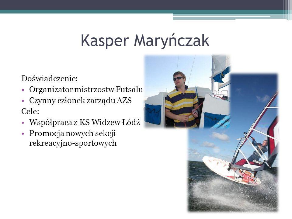 Kasper Maryńczak Doświadczenie: Organizator mistrzostw Futsalu