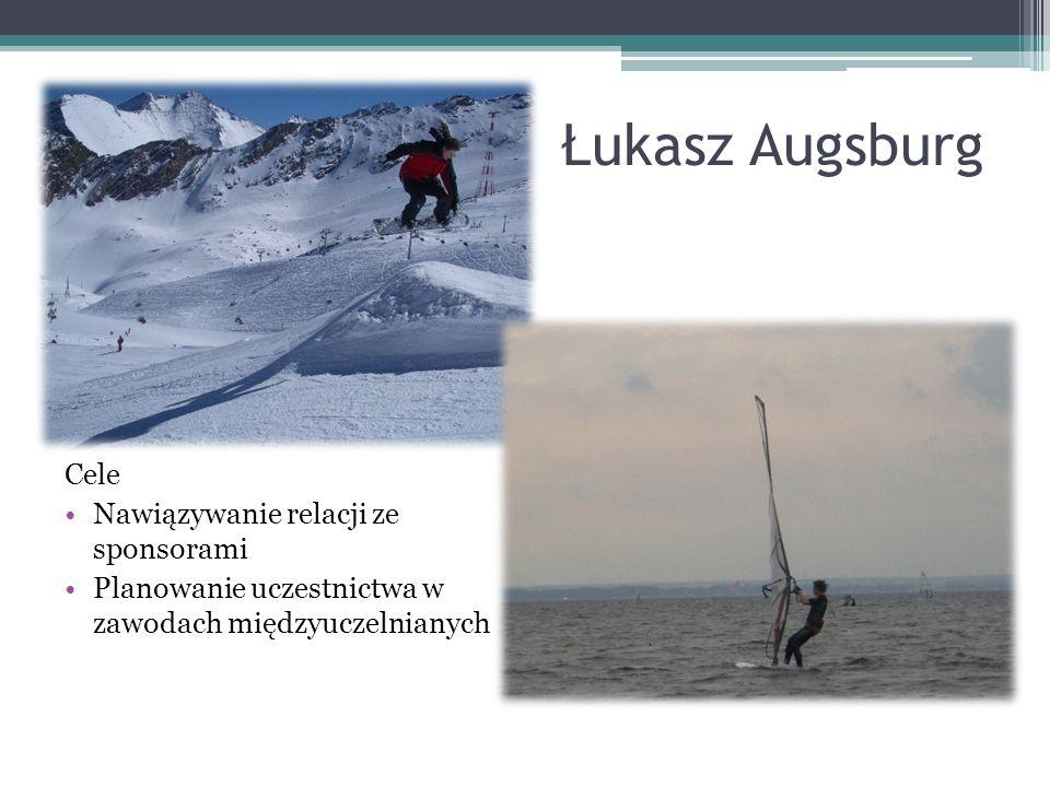 Łukasz Augsburg Cele Nawiązywanie relacji ze sponsorami
