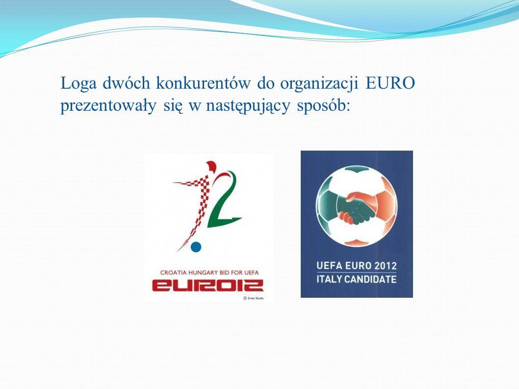Loga dwóch konkurentów do organizacji EURO prezentowały się w następujący sposób: