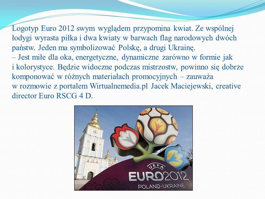 Logotyp Euro 2012 swym wyglądem przypomina kwiat