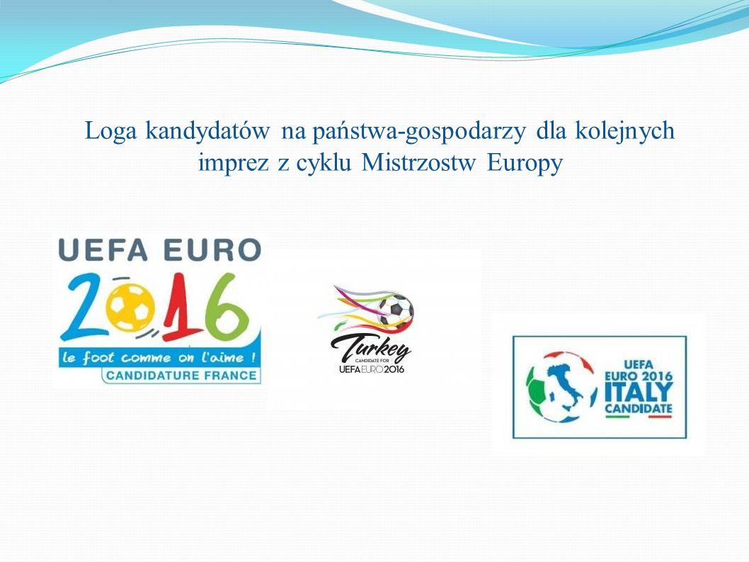 Loga kandydatów na państwa-gospodarzy dla kolejnych imprez z cyklu Mistrzostw Europy