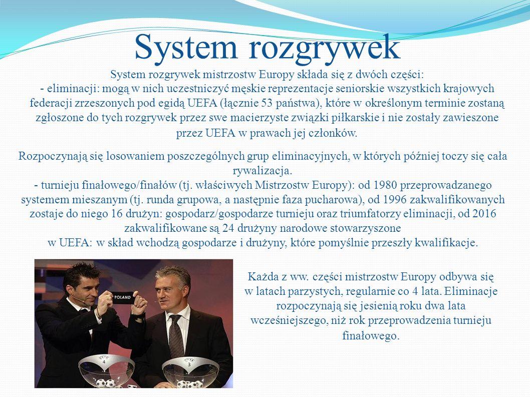 System rozgrywek mistrzostw Europy składa się z dwóch części: