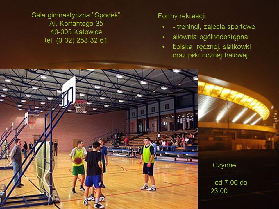 Sala gimnastyczna Spodek Al. Korfantego 35 40-005 Katowice tel