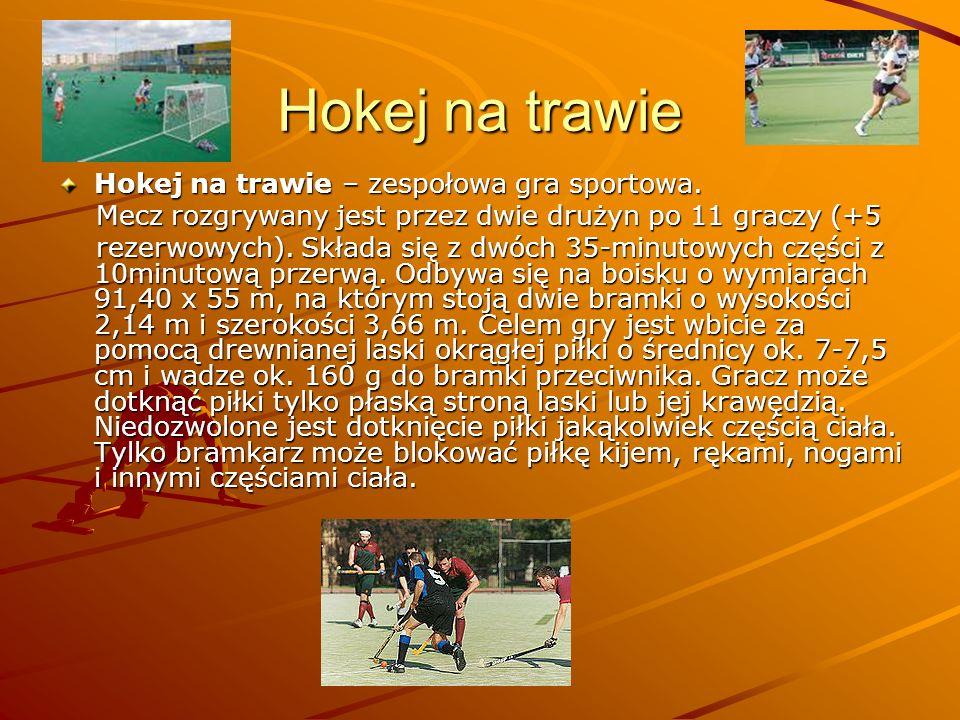 Hokej na trawie Hokej na trawie – zespołowa gra sportowa.