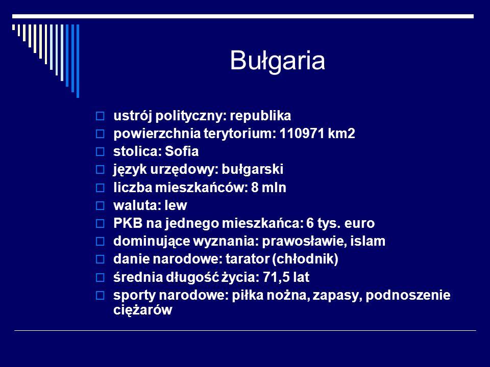 Bułgaria ustrój polityczny: republika
