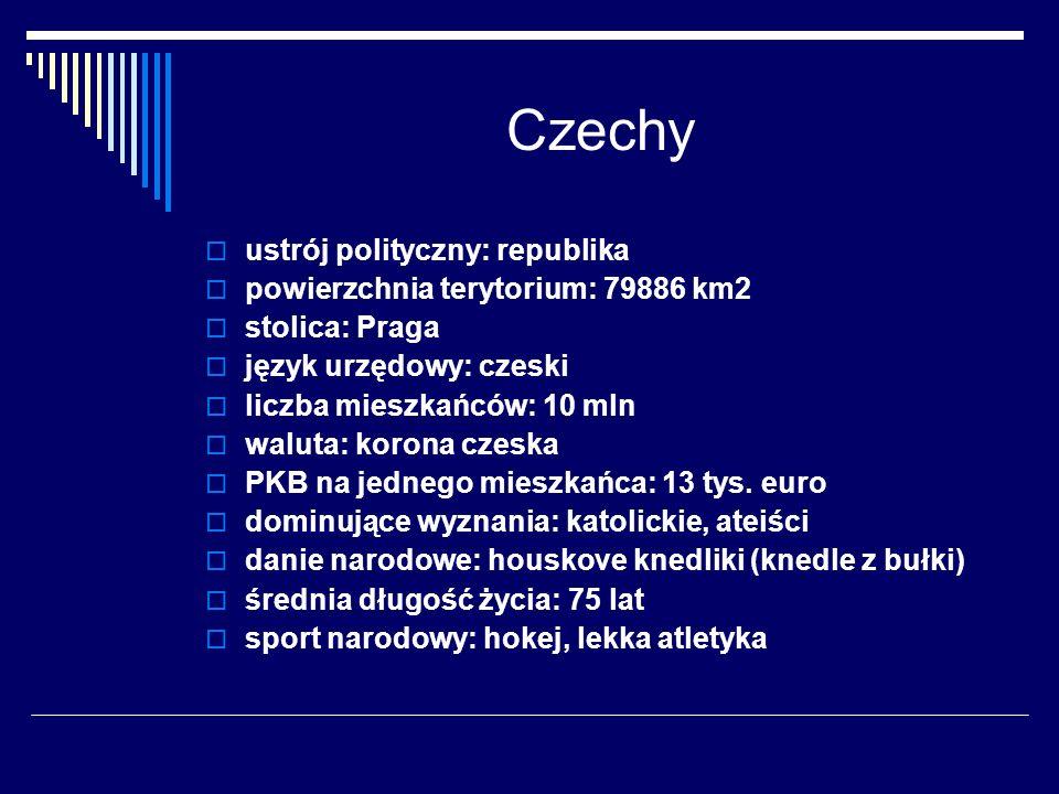 Czechy ustrój polityczny: republika powierzchnia terytorium: 79886 km2