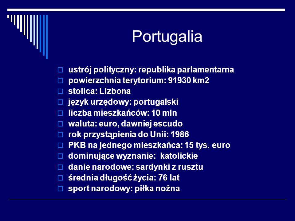 Portugalia ustrój polityczny: republika parlamentarna