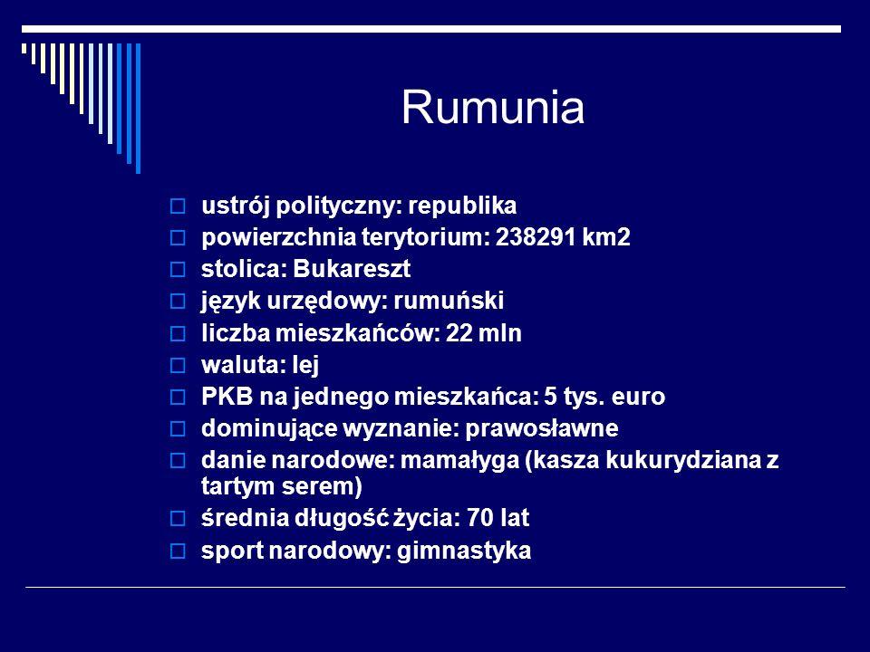 Rumunia ustrój polityczny: republika