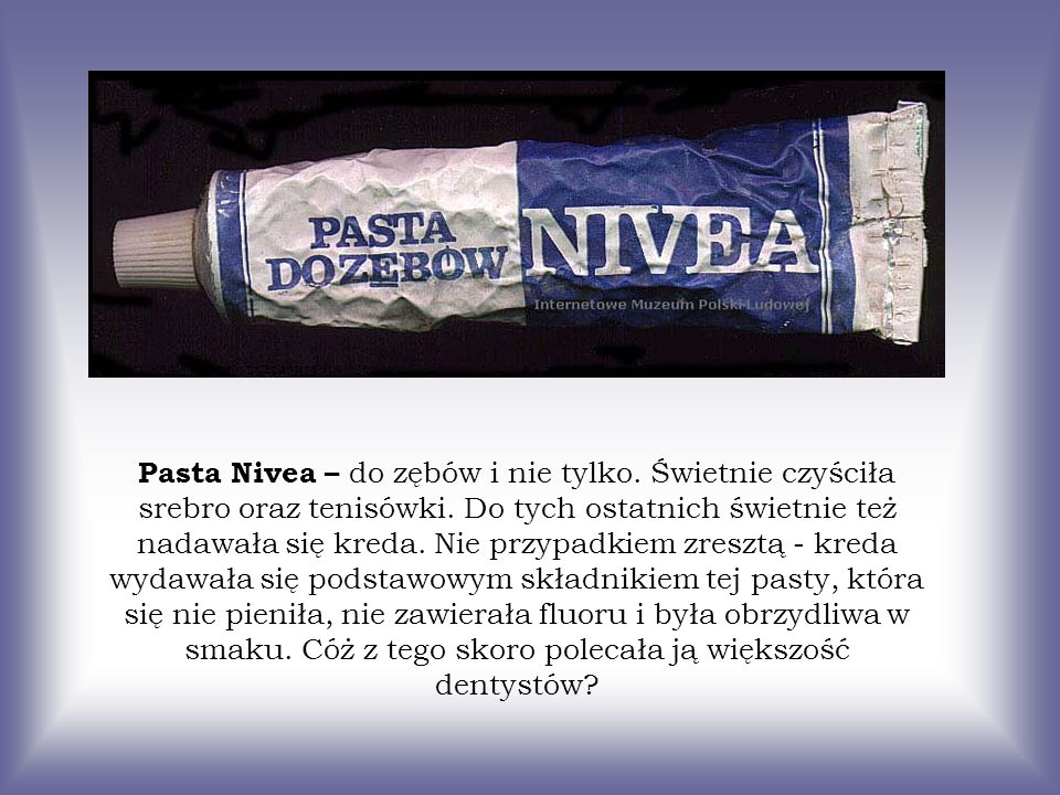 Pasta Nivea – do zębów i nie tylko