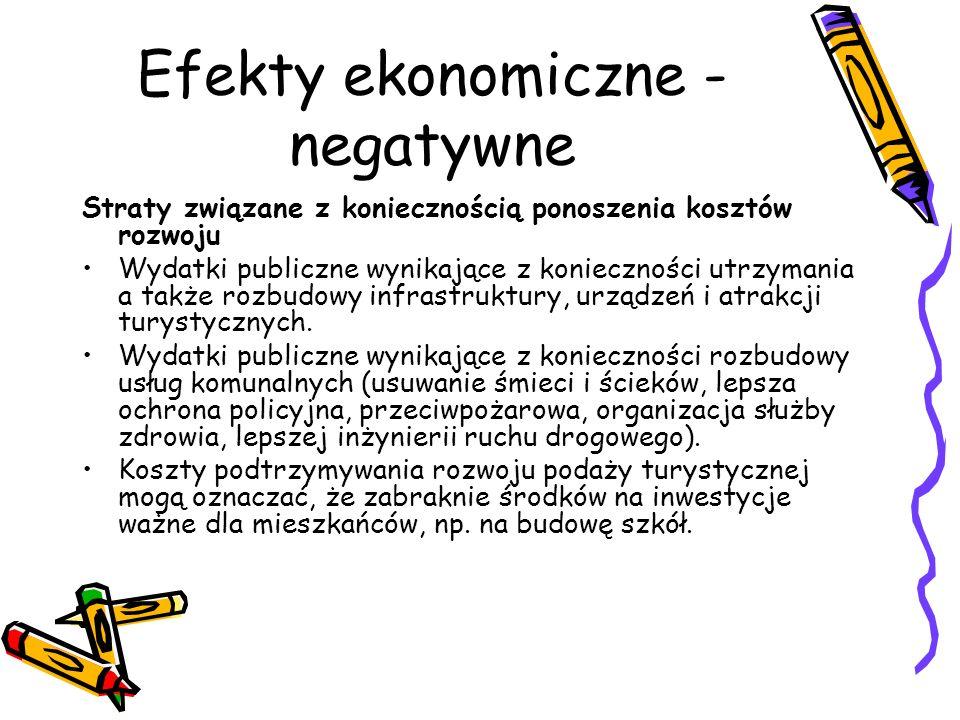 Efekty ekonomiczne - negatywne