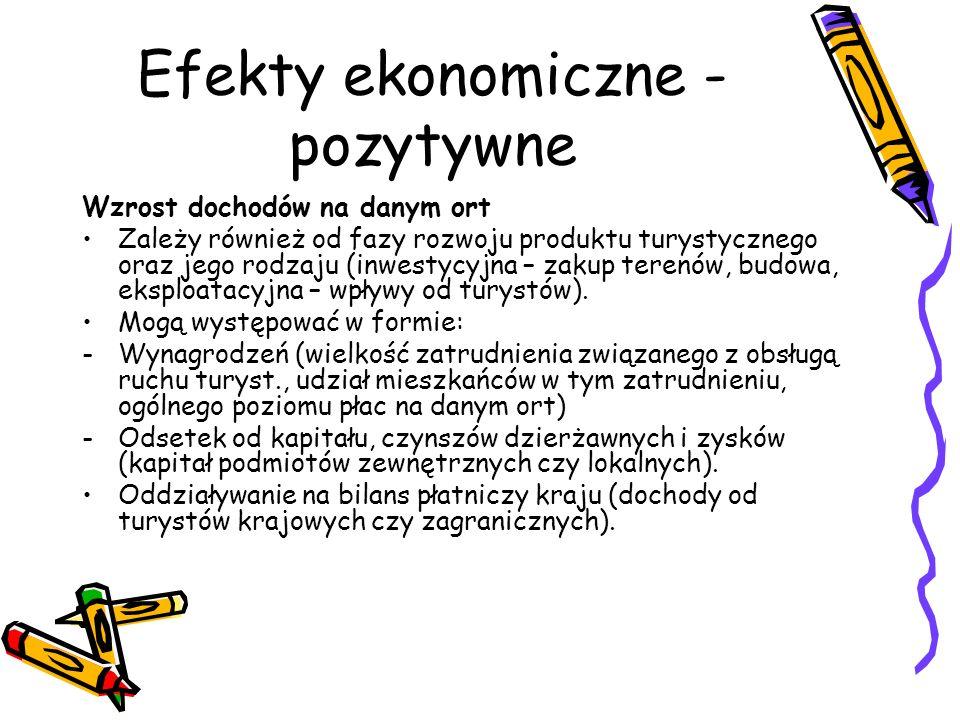 Efekty ekonomiczne - pozytywne