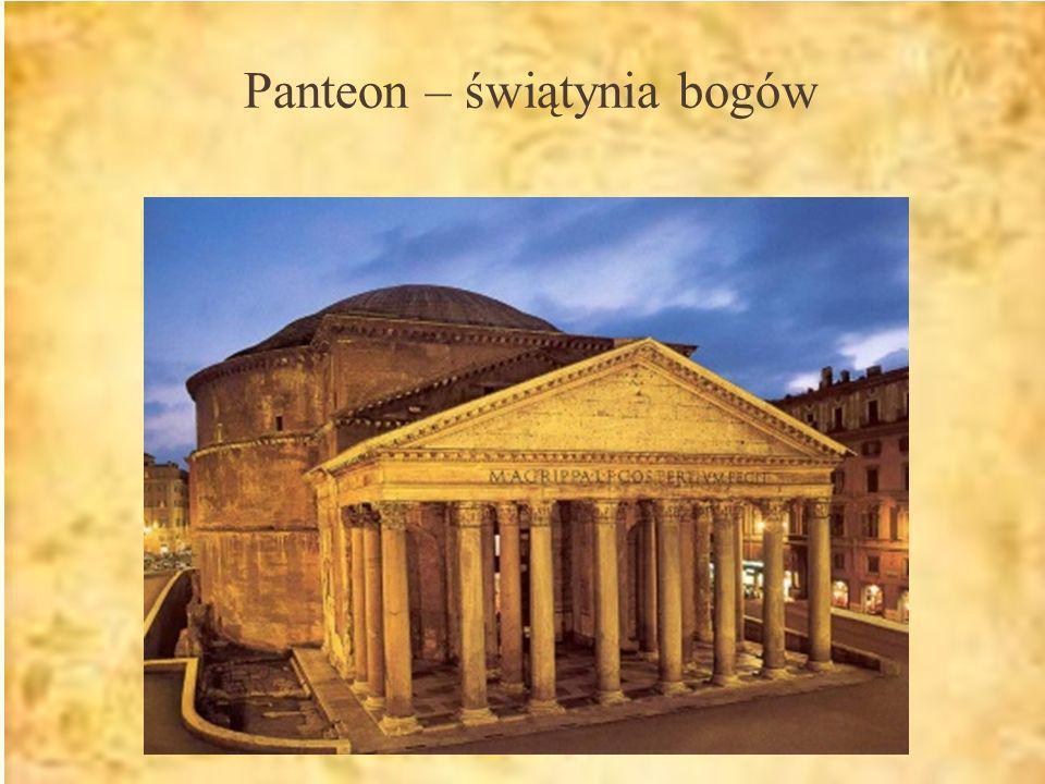 Panteon – świątynia bogów
