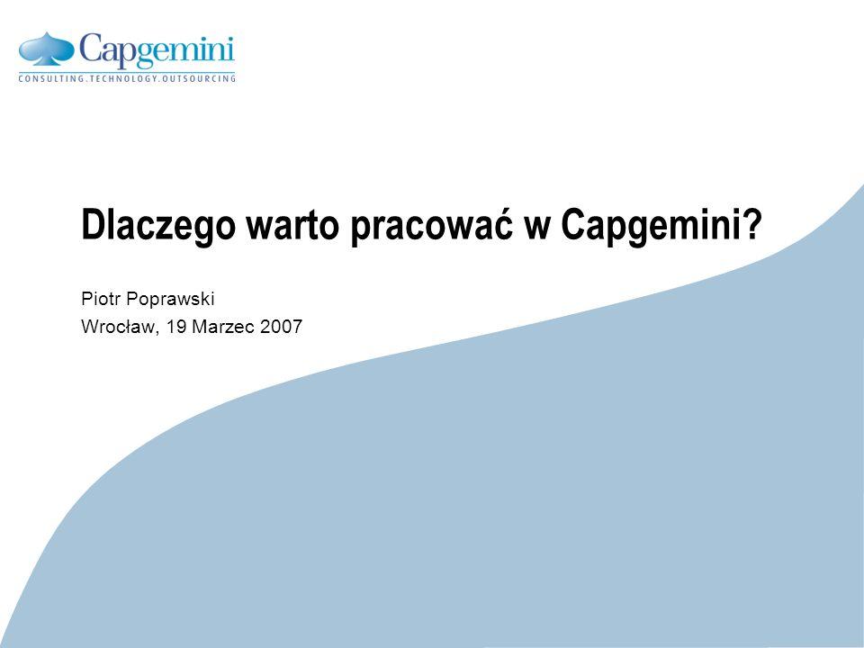 Dlaczego warto pracować w Capgemini