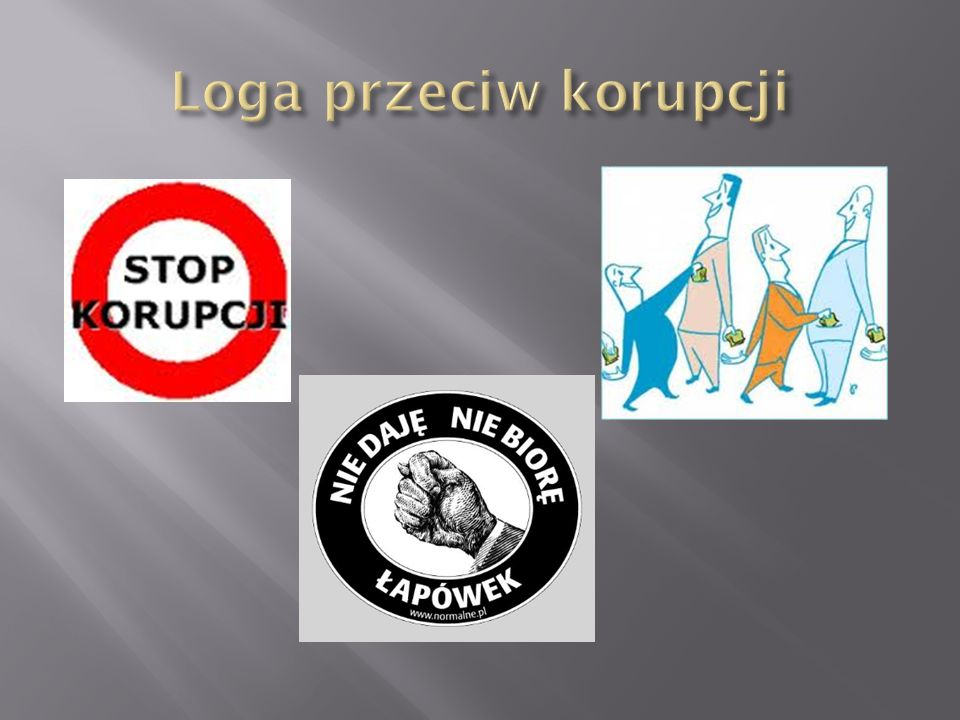 Loga przeciw korupcji