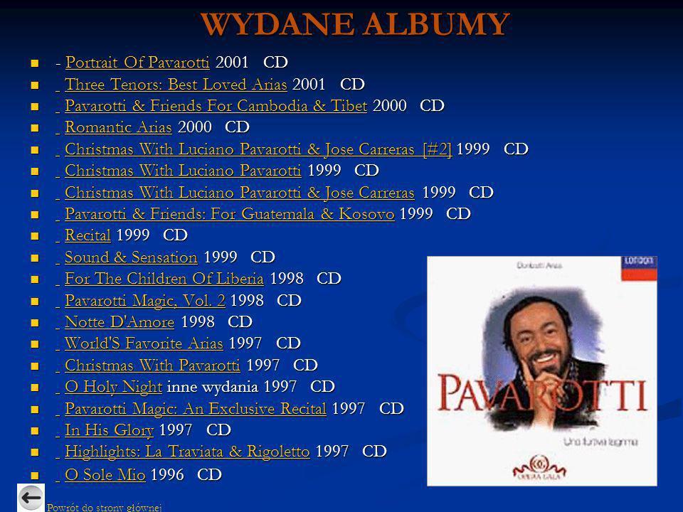 WYDANE ALBUMY - Portrait Of Pavarotti 2001 CD
