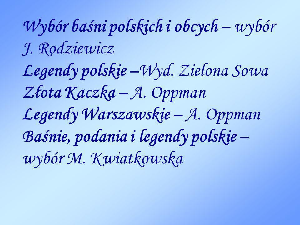 Wybór baśni polskich i obcych – wybór J
