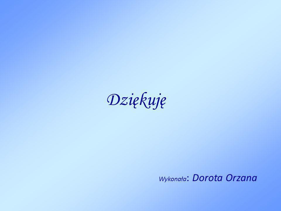 Dziękuję Wykonała: Dorota Orzana