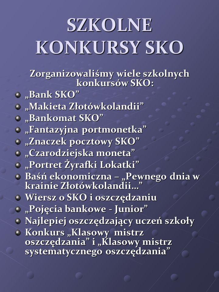 Zorganizowaliśmy wiele szkolnych konkursów SKO: