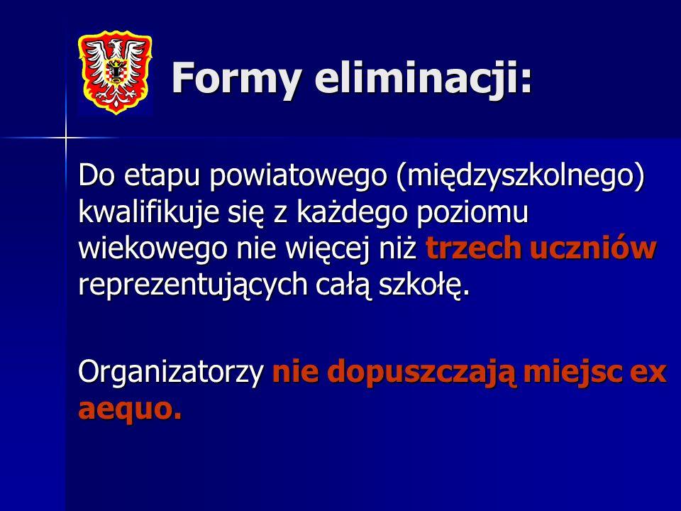 Formy eliminacji: