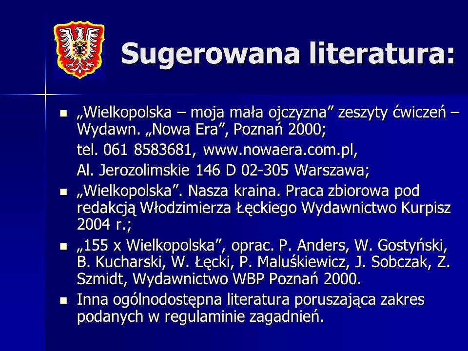 Sugerowana literatura: