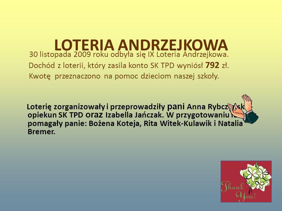 LOTERIA ANDRZEJKOWA
