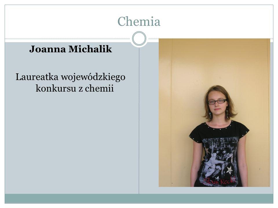 Laureatka wojewódzkiego konkursu z chemii