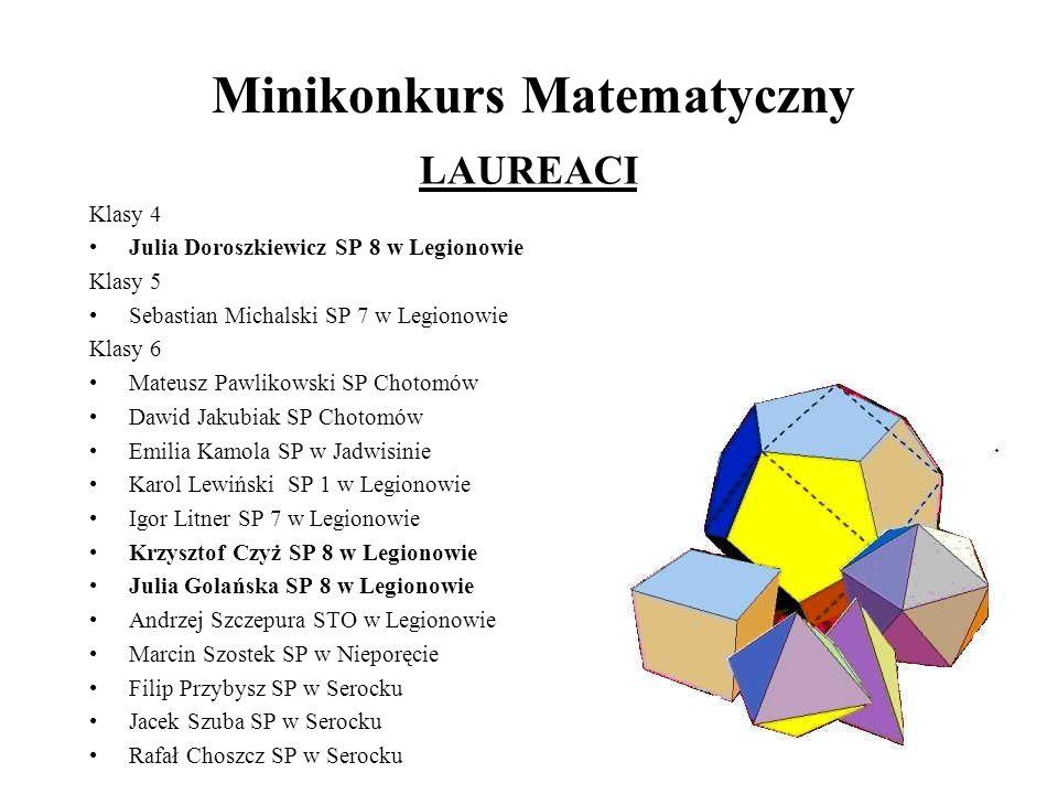 Minikonkurs Matematyczny