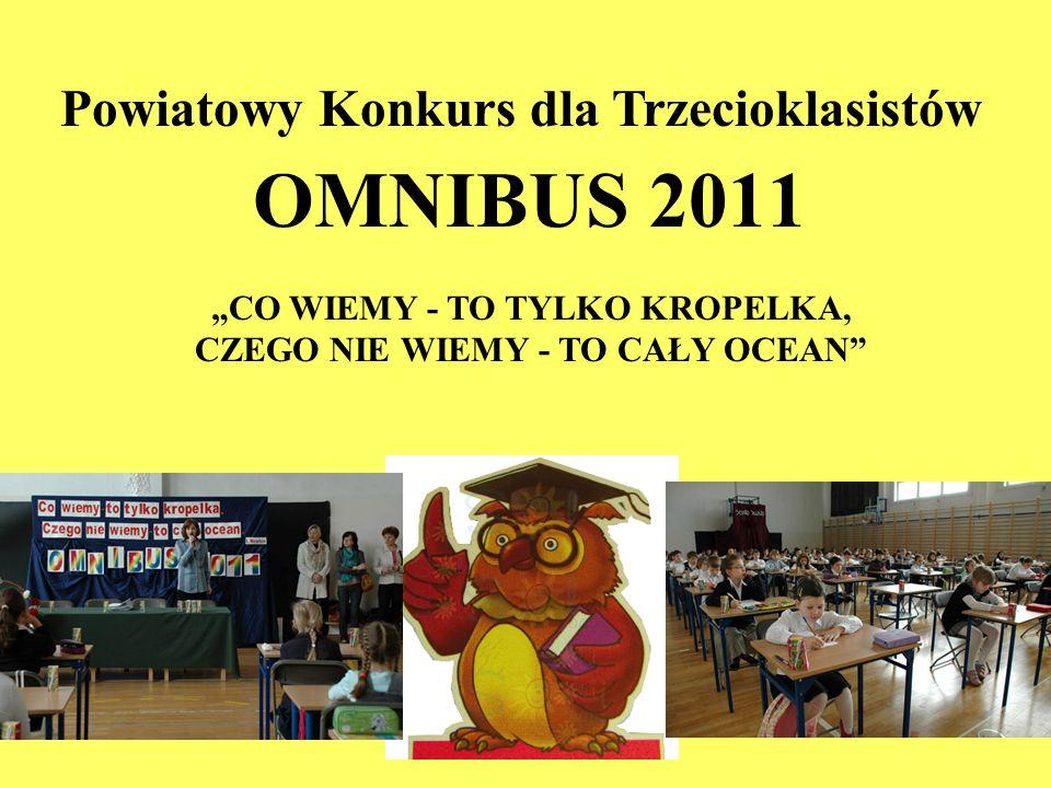 OMNIBUS 2011 Powiatowy Konkurs dla Trzecioklasistów