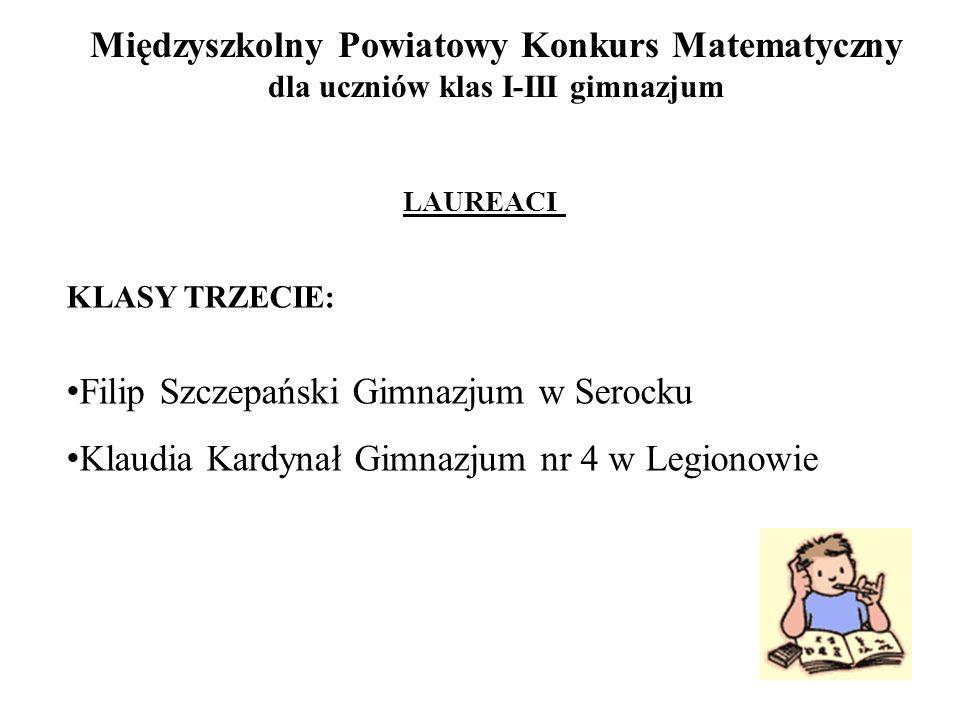 Filip Szczepański Gimnazjum w Serocku