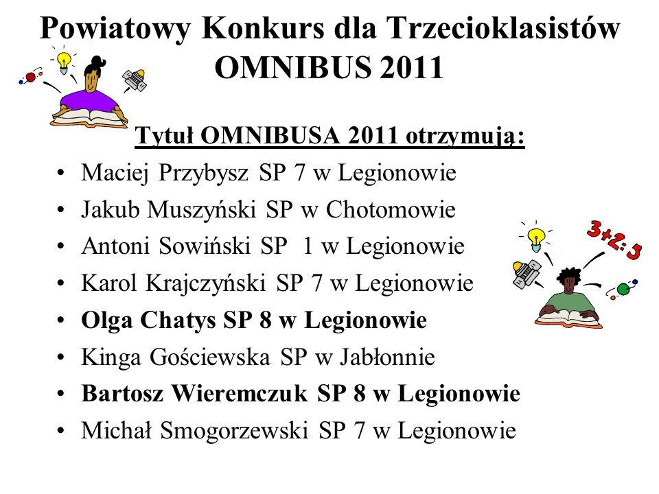 Powiatowy Konkurs dla Trzecioklasistów OMNIBUS 2011