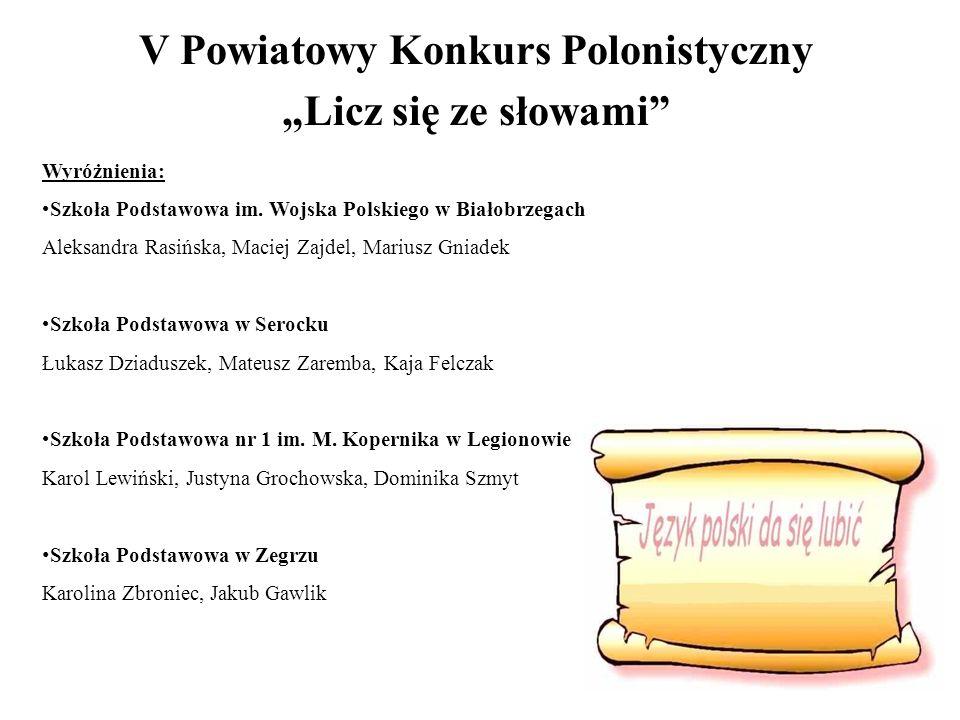 V Powiatowy Konkurs Polonistyczny