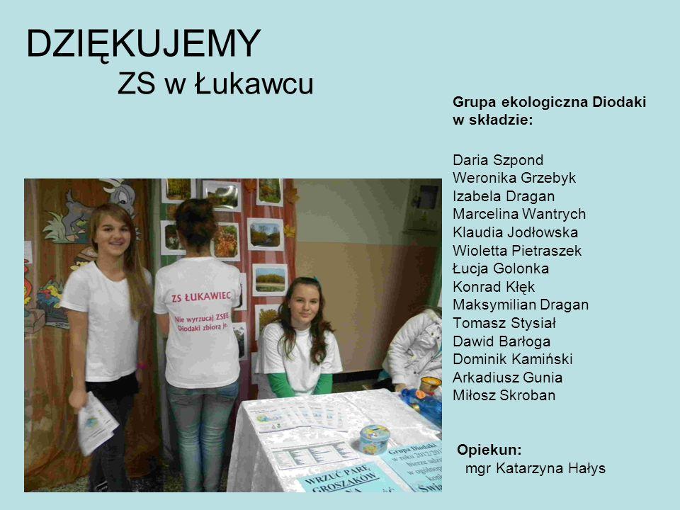 DZIĘKUJEMY ZS w Łukawcu