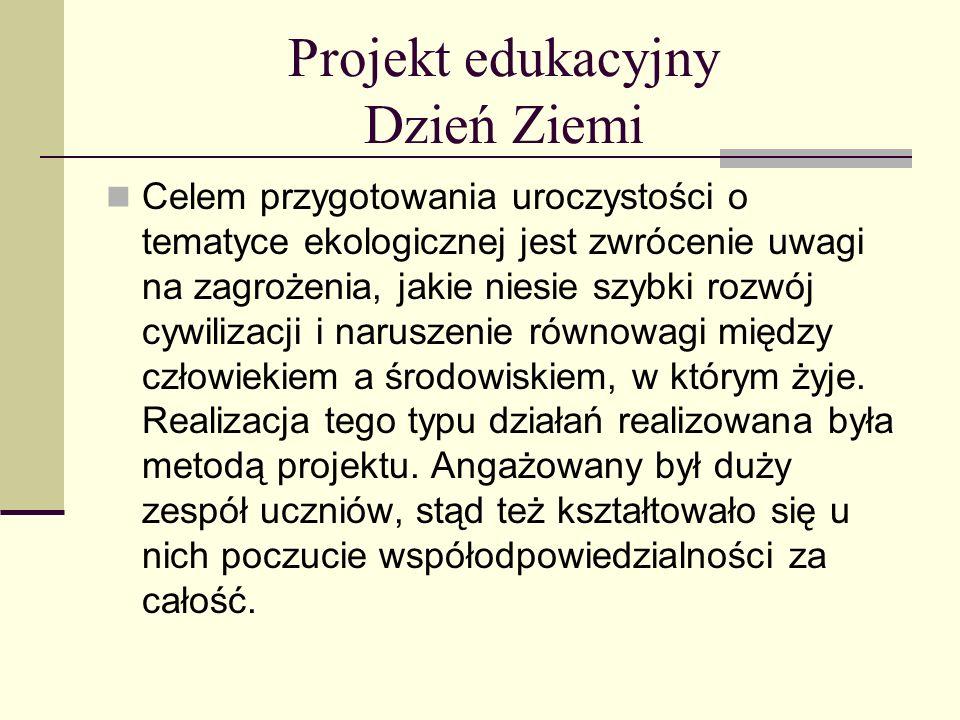 Projekt edukacyjny Dzień Ziemi