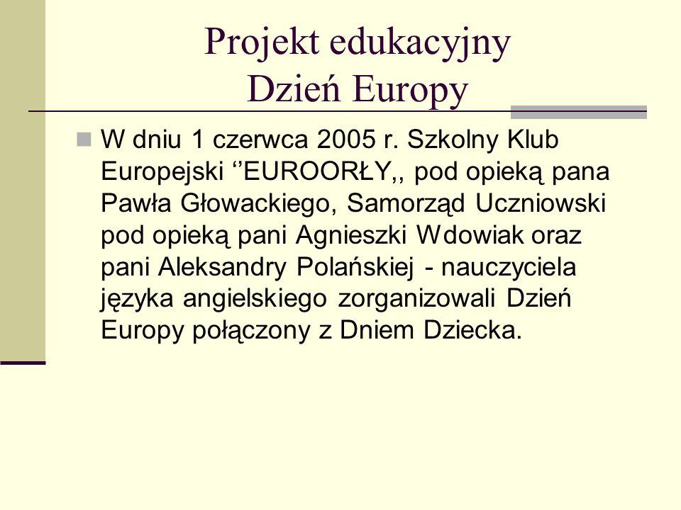 Projekt edukacyjny Dzień Europy