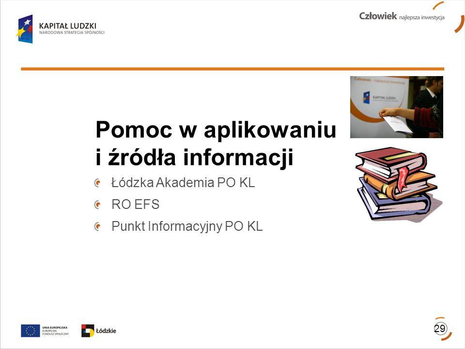 Pomoc w aplikowaniu i źródła informacji