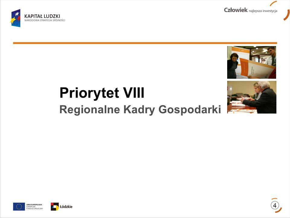 Priorytet VIII Regionalne Kadry Gospodarki 4