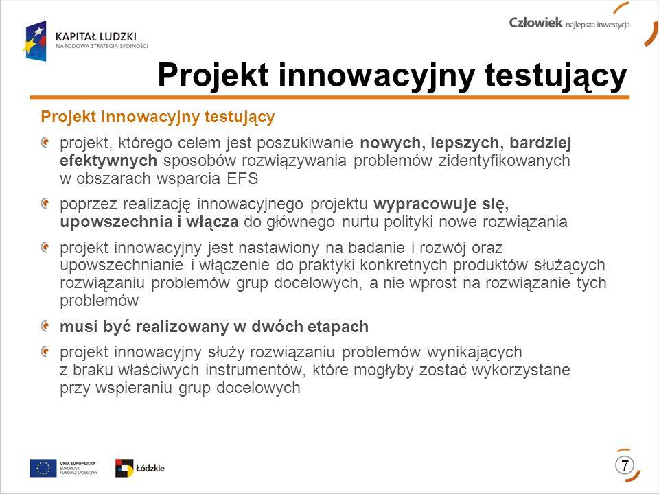 Projekt innowacyjny testujący