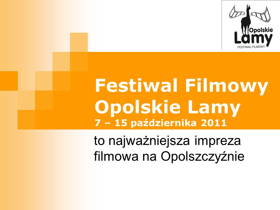 Festiwal Filmowy Opolskie Lamy 7 – 15 października 2011
