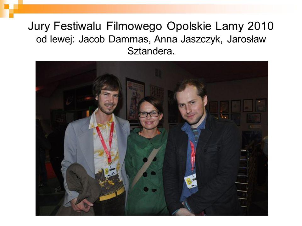 Jury Festiwalu Filmowego Opolskie Lamy 2010 od lewej: Jacob Dammas, Anna Jaszczyk, Jarosław Sztandera.