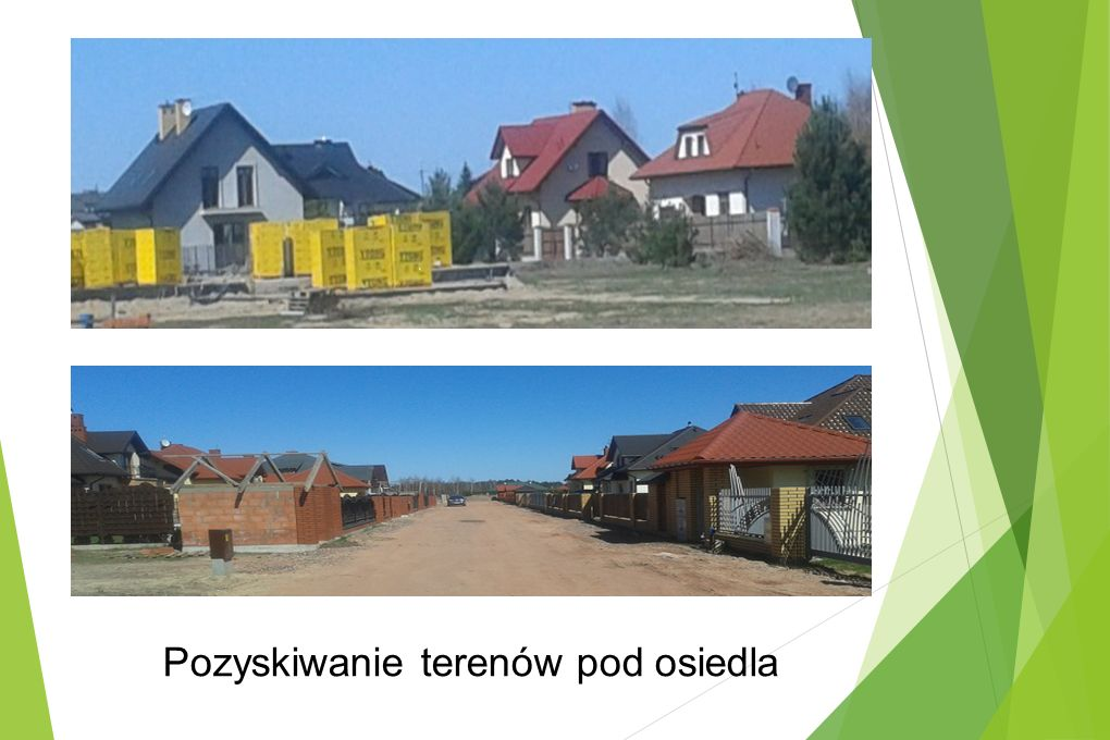 Pozyskiwanie terenów pod osiedla