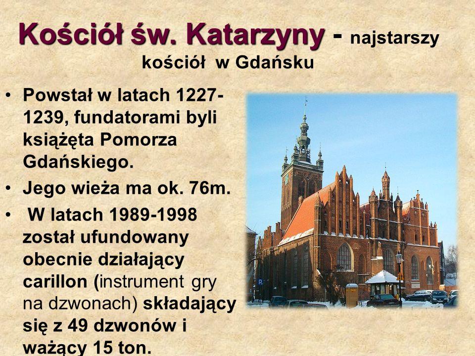 Kościół św. Katarzyny - najstarszy kościół w Gdańsku
