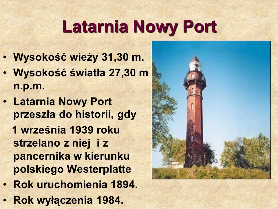 Latarnia Nowy Port Wysokość wieży 31,30 m.