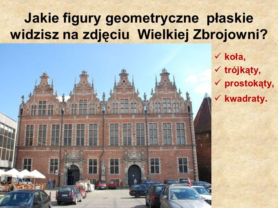 Jakie figury geometryczne płaskie widzisz na zdjęciu Wielkiej Zbrojowni