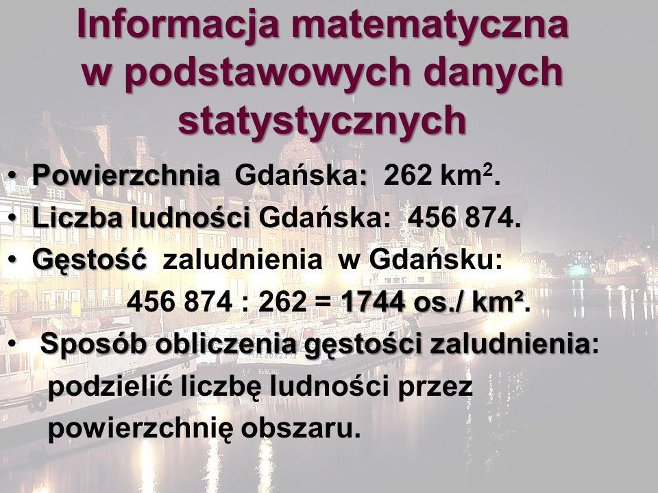 Informacja matematyczna w podstawowych danych statystycznych