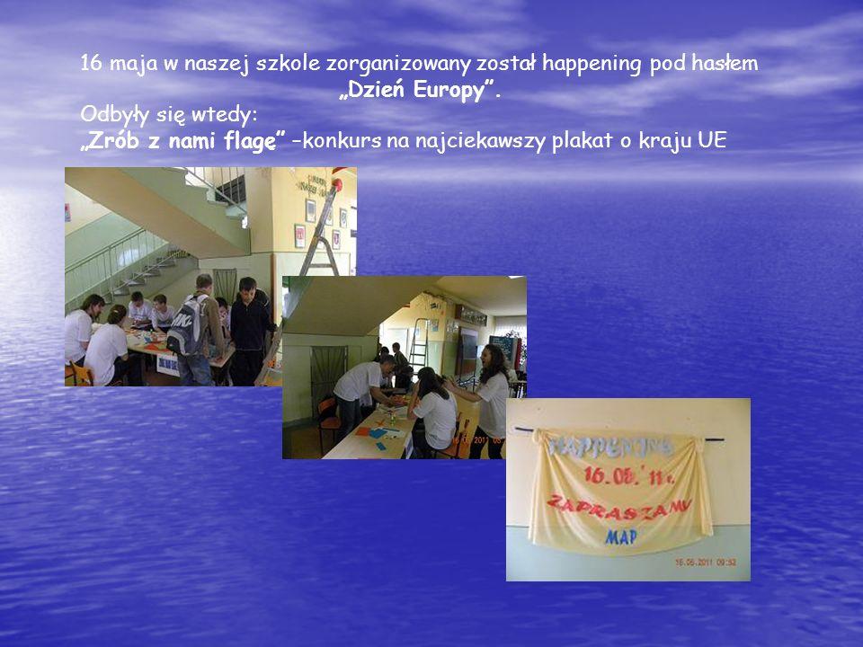16 maja w naszej szkole zorganizowany został happening pod hasłem