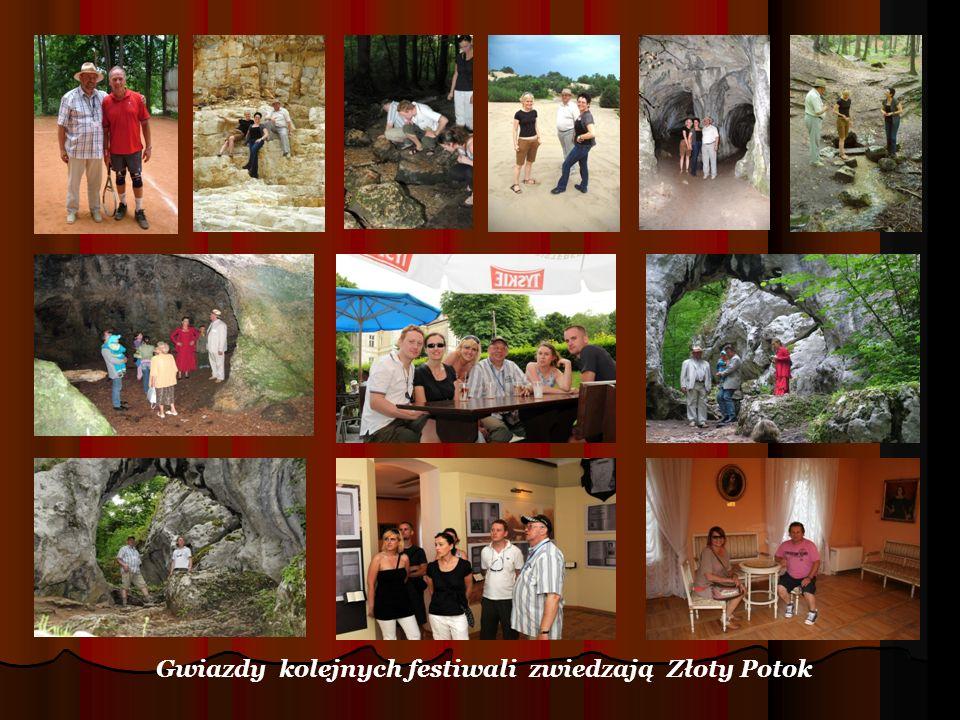 Gwiazdy kolejnych festiwali zwiedzają Złoty Potok